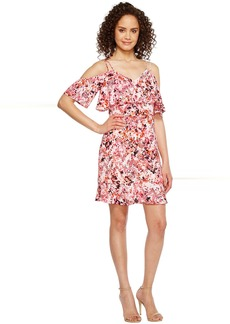 Jessica Simpson Printed Cold Shoulder Dress JS7A9571