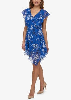 Jessica Simpson Printed Handkerchief Dress