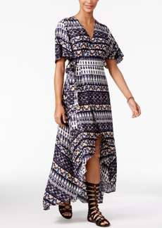 Jessica Simpson Printed High-Low Maxi Dress