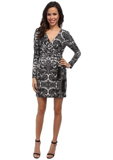 Jessica Simpson Printed Ity Faux Wrap Dress