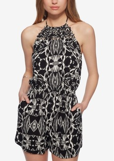 Jessica Simpson Printed Open-Back Romper