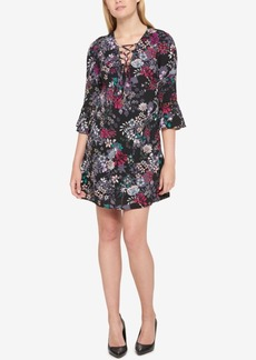Jessica Simpson Printed Peasant Dress