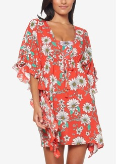 4adc46e6f9 Jessica Simpson Jessica Simpson Plus Size Printed Tie-Front Kimono ...