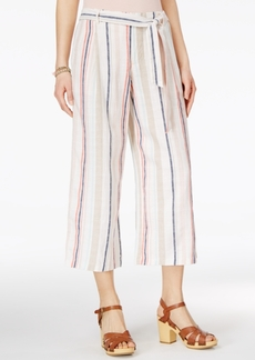 Jessica Simpson Printed Wide-Leg Cropped Soft Pants