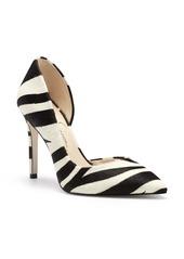 Jessica Simpson Prizma6 Zebra Stripe Half d'Orsay Pump (Women)