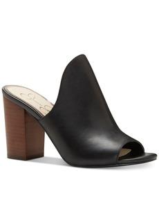 Jessica Simpson Rainn Peep-Toe Block-Heel Slides Women's Shoes