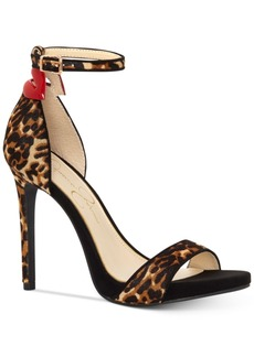 Jessica Simpson Reenah Leopard-Print Two-Piece Heels Women's Shoes