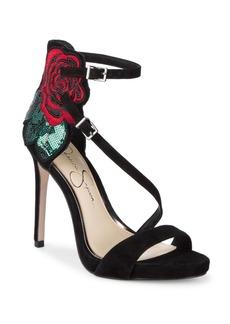 Jessica Simpson Reesa Suede Ankle Strap Sandals