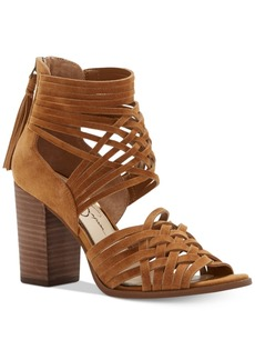 Jessica Simpson Reilynn Huarache Crisscross Block-Heel Sandals Women's Shoes