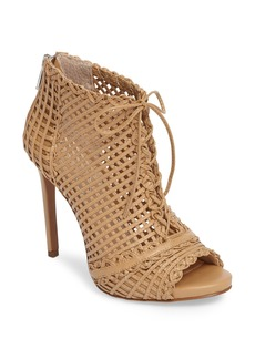 Jessica Simpson Rendy Latticework Peep Toe Bootie (Women)