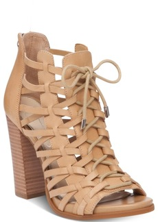 Jessica Simpson Riana Lace-Up Block-Heel Dress Sandals Women's Shoes