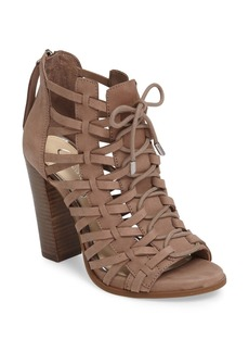 Jessica Simpson Riana Woven Leather Cage Sandal (Women)