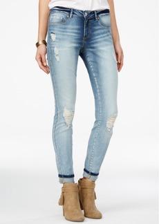 Jessica Simpson Ripped Acid Wash Straight-Leg Jeans