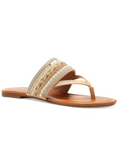 Jessica Simpson Ronette Beaded Thong Flat Sandals Women's Shoes