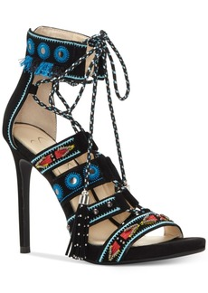 Jessica Simpson Roona Lace-Up Tassel Sandals Women's Shoes