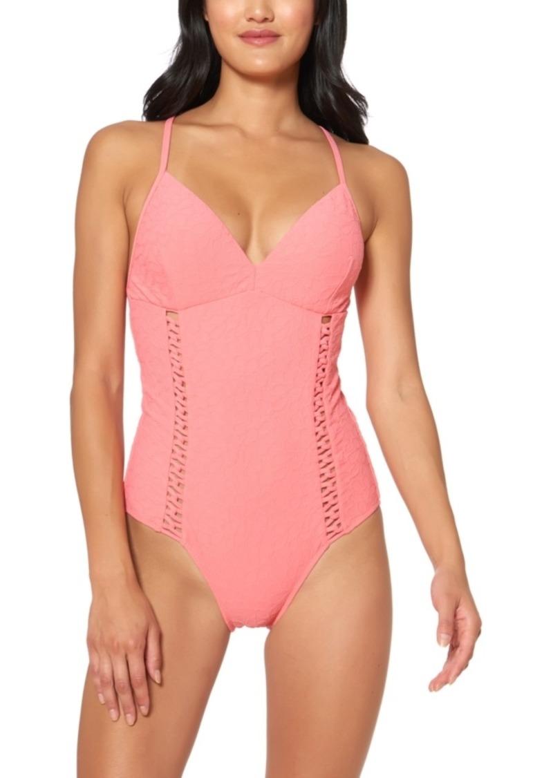 Jessica Simpson Rose Bay Textured One-Piece Swimsuit Women's Swimsuit