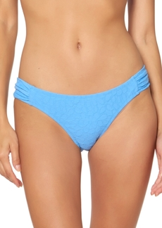 Jessica Simpson Rose Bay Textured Shirred Bikini Bottoms Women's Swimsuit