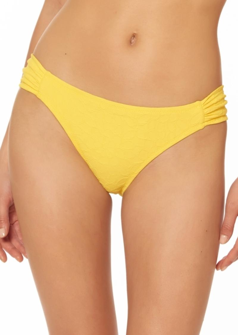 Jessica Simpson Rose Bay Textured Shirred Bikini Bottoms Women's Swimsuit