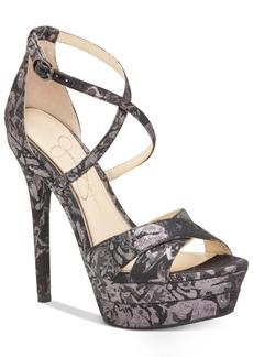 Jessica Simpson Roxelle Platform Velvet Dress Sandals Women's Shoes