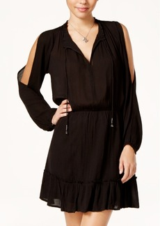 Jessica Simpson Ruffled Cold-Shoulder Peasant Dress