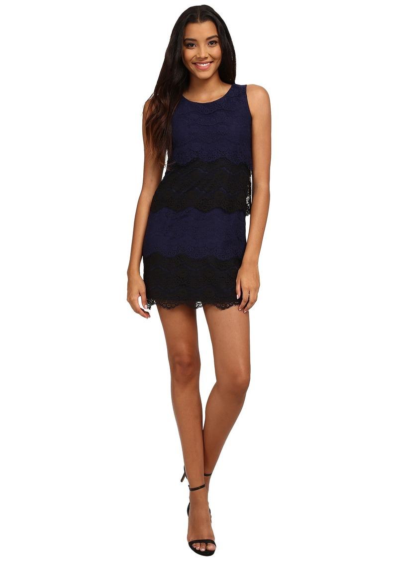 Jessica Simpson Scallop Lace Tier Dress