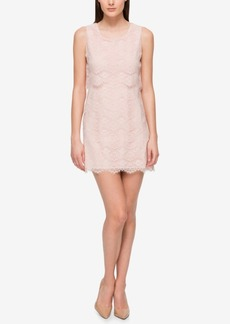 Jessica Simpson Scalloped Lace Popover Dress