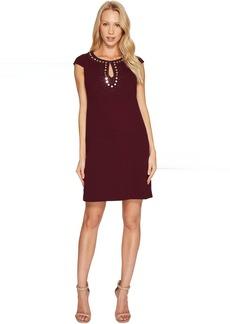 Jessica Simpson Short Sleeve Dress w/ Keyhole Neck