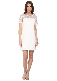 Jessica Simpson Short Sleeve Lace Knit Combo Dress