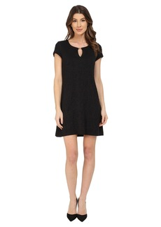 Jessica Simpson Short Sleeve Shift Dress with Metal Neck Detail
