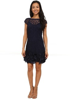 Jessica Simpson Short Tiered Sleeve Dress with Ruffle at Hem
