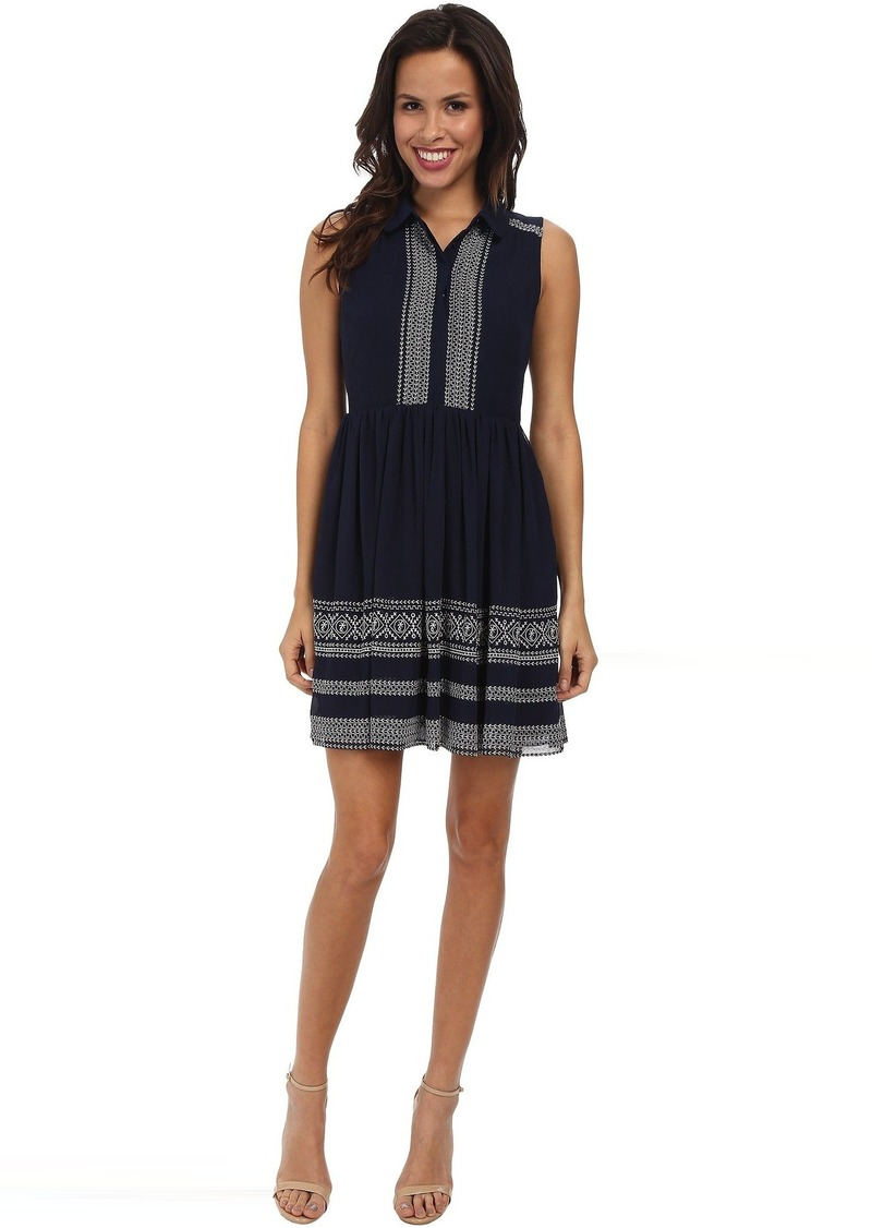 Jessica Simpson Sleeveless Embroidered Dress JS5U6902