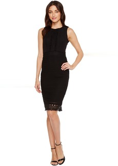 Jessica Simpson Sleeveless Lace Dress with Ruffle Front