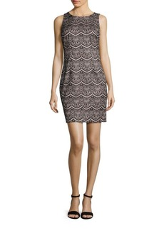 Jessica Simpson Sleeveless Lace Sheath Dress