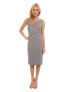 Jessica Simpson Sleeveless Paneled Bodice Dress with Straight Skirt
