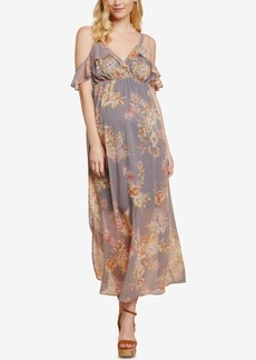 Jessica Simpson Sleeveless Ruffled Maternity Maxi Dress