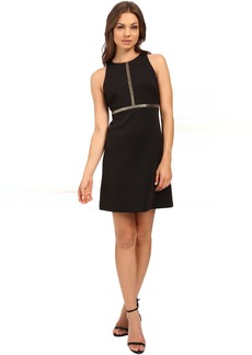 Jessica Simpson Solid A-Line Dress with Gold Stud Detail JS6D8673