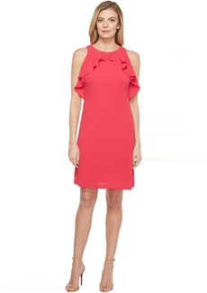 Jessica Simpson Solid Dress with Ruffle Neck