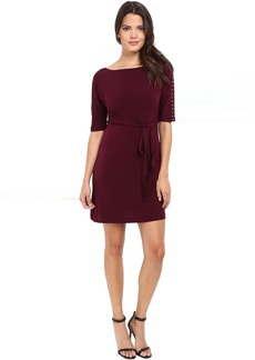 Solid Ity Dress with Sash