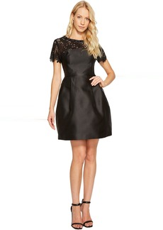 Jessica Simpson Solid Party Dress with Neck Trim JS7A9450
