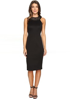 Jessica Simpson Solid Scuba Midi Dress