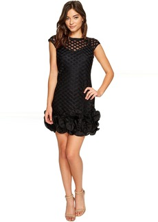 Jessica Simpson S/S Lace Dress w/ Ruffle Hem