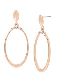 """Jessica Simpson Stone Crown Gypsy Hoop Earrings, 2"""""""