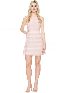 Jessica Simpson Stripped Tweed Fit and Flare Dress