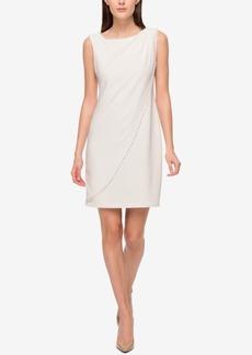 Jessica Simpson Studded Draped Jersey Sheath Dress