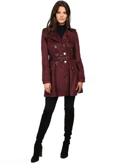 Jessica Simpson Sueded Rain Trench with Double Breasted Buttons