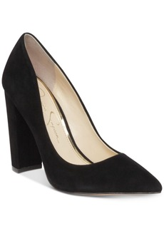 Jessica Simpson Tanysha Pointed Block-Heel Pumps Women's Shoes