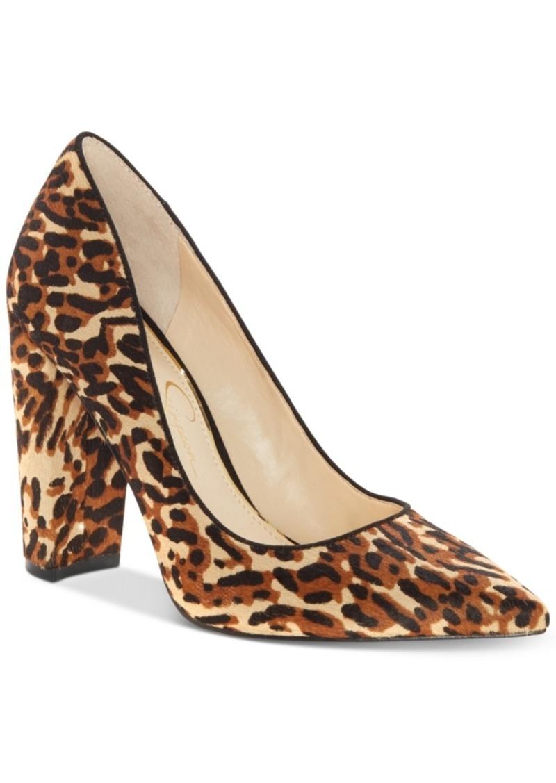 971059d7810d Jessica Simpson Jessica Simpson Tanysha Pointed Block-Heel Pumps ...
