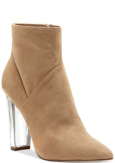 Jessica Simpson Tarek Lucite-Heel Booties Women's Shoes