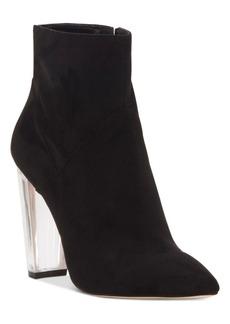Jessica Simpson Tarek Lucite-Heel Booties Women's Shoes