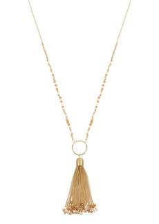 "Jessica Simpson Tassel Pendant Beaded Necklace, 27"" + 2"" Ext"
